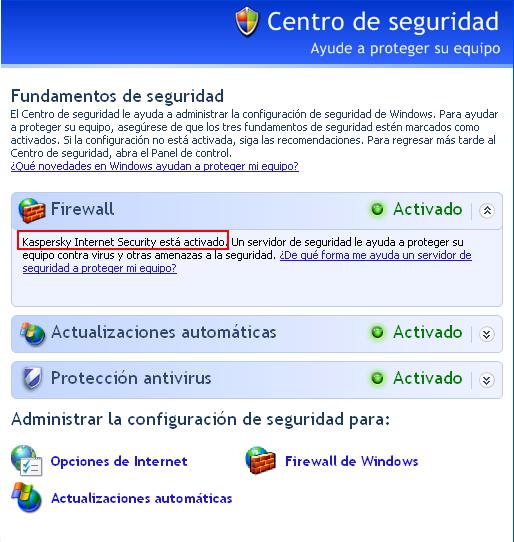 Firewall Kaspersky